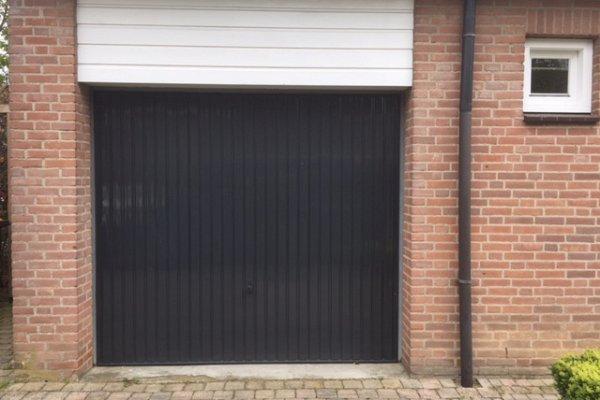 openslaande houten garagedeuren Wijk bij Duurstede vooraf
