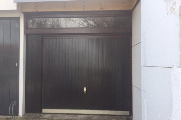 openslaande houten garagedeuren Nootdorp vooraf