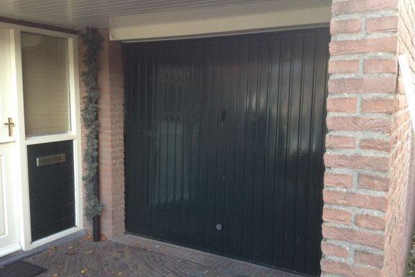 openslaande houten garagedeuren Laren vooraf