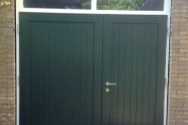 openslaande houten garagedeuren Harderwijk type Badings